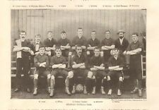 1894  ANTIQUE PRINT - MILWALL  FOOTBALL TEAM, ALL NAMED