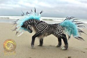 100% Handmade Woodsplitter Lee Cross Original Poseable Fantasy Ocean Unicorn!