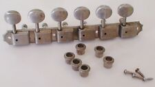VINTAGE 1960'S GIBSON FIREBIRD KLUSON DELUXE TUNER SET 6 IN LINE WITH BUSHINGS