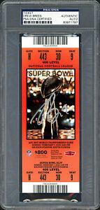 Drew Brees Autographed Signed Super Bowl XLIV Ticket Saints PSA/DNA #83971797