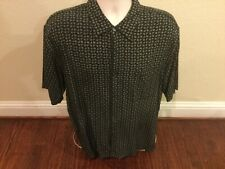 Neiman Marcus Men's XL Shirt Hawaiian Camp 100% Silk