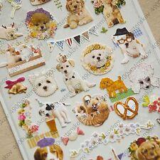 Sonia.j Design dressed up cute elegant puppy dog paper sticker 1 sheet