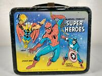 1976 Marvel Comics Super Heroes Metal Lunchbox Spiderman