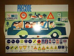 Code De La Route A Système Précode, 1960. Offert Par Huile Longlife.