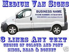 Medium Van Custom veicolo grafica segno la scrittura KIT Lettering Logo Decalcomanie