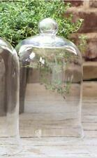 "GLASS CLOCHE DOME- BELL JAR-French Country-Garden-SMALL-10.5""H x 7"""