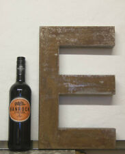 1950s Antique French Shop Letter E Metal Bar Cafe Reclaimed Industrial LARGE !