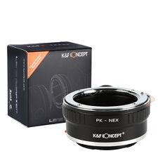 Pentax PK K Lens to Sony NEX E Mount Adapter NEX-3 NEX-5 NEX3 NEX5 with Tripod