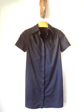 SZ XL INC Black Cotton Blend Casual Work Shirt Short Sleeve All Season Knee