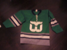 VINTAGE REPLICA HARTFORD WHALERS # 1 JERSEY Size S made by Athletic Knit CANADA