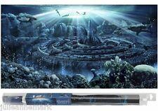 """ACQUARIO PESCI SFONDO """"ATLANTIS mondo"""" Inc FISSAGGIO GEL Design il vostro Aquascape"""