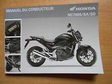 Manuel du conducteur Honda NC 700 S / SA / SD (RC61) Fahrerhandbuch