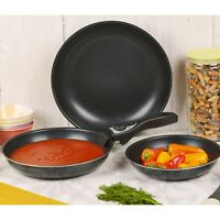 4 Piece Ceramic Cookware Frying Pan Set with Detachable Handle and Induction