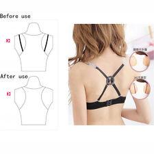3 X Women Webbing Bra Linger Buckle - Black Beige White Color - 1each Dress Clip