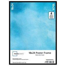24x18 Poster Frame 18x24 In. Black Basic Plain Slim Vertical Horizontal Hanging