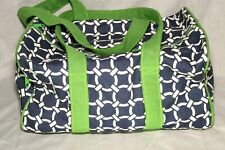Ame & LuLu Weekend Duffle Lime Green Blue White Espn stiched on Side Pocket