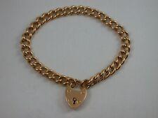 altes Armband mit Herzschloß aus England  Gold18 K 750