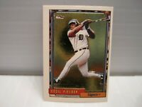 1992 Cecil Fielder Topps MICRO, GOLD Foil Baseball Card Detroit Tigers #425