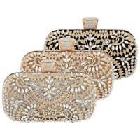 Women Rhinestone Evening Bag Party Bridal Clutch Wedding Handbag Purse Wallet
