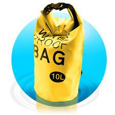 Dry Bag Waterproof Bag 10 L wasserfester Beutel Seesack Segeltasche Gelb
