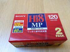 Sony Hi8 MP 120 video cassettes