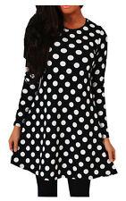 PAPAVAL KSD Kids Girls Tartan printed Long Sleeve Swing Skater Dress