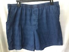 Basic Editions Women's Stretch Waist Denim Cotton Shorts Size XXL #386P