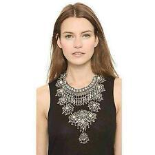 Zhenhui Fashion Vintage Silver Gold Tone Long Boho Statement Necklace