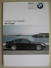 VENDEUR MANUEL BMW Série 6 Coupé E63 630i 650i M6 635d Modèle 2007 2008