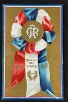 VTG Antique Memorial Day Greetings 1861-1865 Embossed. Appr. 1905-1914 Postcard