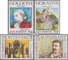 San Marino 1551-1554 (compleet.Kwestie.) postfris MNH 1993 Dichters en Componist