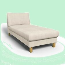 IKEA Karlstad Freestanding Chaise Lounge Linneryd Natural Cover Beige AUTHENTIC