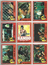 "1985 Rambo ""Complete Base Set"" of 66 Cards & 11 Stickers W/Wrapper BOX FRESH!!"