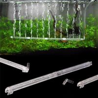 Aquarium Fish Tank Air Stone Bubble Bar Tube Pump Wall Curtain Diffuser Plastic