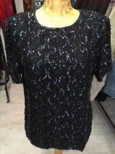 Sequin Party Plus Size Vintage Tops & Shirts for Women