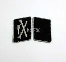 WW2 German Elite Officer Division Dirlewanger Collar Tabs