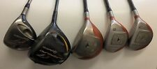 Taylormade Golf Club Set Fire Sole Driver Woods Super Quad 5 Drivers Mens R.H.