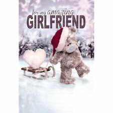 Me to You Christmas Card - Girlfriend - 3D Holographic Tatty Teddy Xmas
