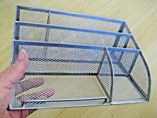 Aluminum Silver Metal MESH LETTER DIVIDER Holder Pencils Sorter DESK ORGANIZER
