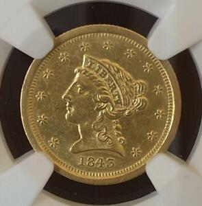 1843 O Small Date $2.5 Liberty NGC AU55