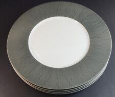 New listing Haviland Infini Dinnerware Limoges Porcelain Dinner Plates Anthracite - Set Of 4