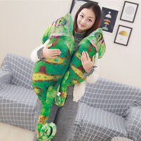 Simulation Chameleon Plush Toys Stuffed Lizard Animals Cartoon Pillow Doll UK