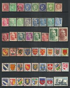 FRANCE    VARIOUS USED ISSUES  (70 STAMPS)   LOT B