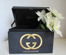 GUCCI GUILTY Black Gift EMPTY BOX Gold Embroidered Designer Logo Make-Up Glasses