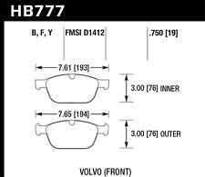 Disc Brake Pad Set-LTS Disc Brake Pad Front Hawk Perf HB777Y.750