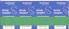 Southwest drink coupons, 4, Exp.11/30/2020
