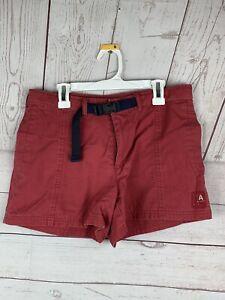 American Eagle Outfitters Women's Size 4 Khaki Shorts Belt Pockets Walking