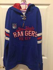 New York Rangers NHL Hockey Zip Up Hoodie Sweatshirt Women's Small-New With Tags