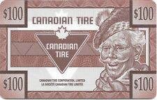 Canadian Tire Gift empty card $100 no value collectible 0$ balance Unloadable