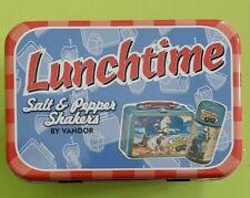 Lone Ranger Lunchtime Salt & Pepper Shakers in Lunch Tin Vandor Hi-Yo Silver!